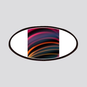 Colorful red color circular art swirl abst Patches