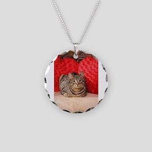 Sweetheart Daisy Valentine k Necklace Circle Charm