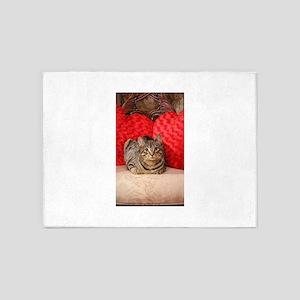 Sweetheart Daisy Valentine kitty ca 5'x7'Area Rug