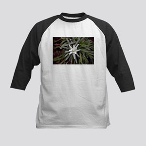 White Alpine Edelweiss Flower Baseball Jersey