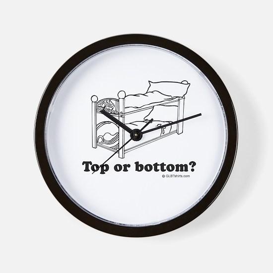 Top or bottom? Wall Clock