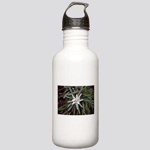White Alpine Edelweiss Stainless Water Bottle 1.0L