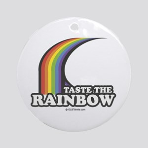 Taste the rainbow Ornament (Round)
