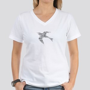 I Am No Bird- Women's V-Neck T-Shirt