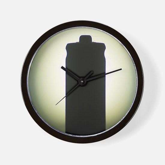 AAA Battery silhouette art photo Wall Clock