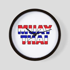 Muay Thai 001 Wall Clock