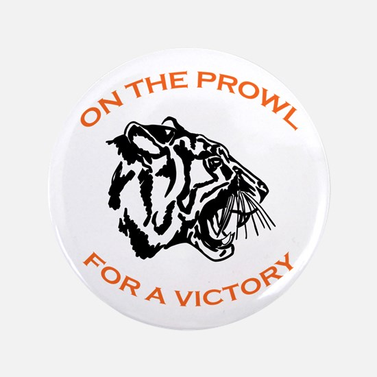 """ON THE PROWL 3.5"""" Button"""