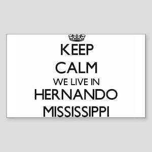 Keep calm we live in Hernando Mississippi Sticker