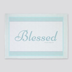 Blessed Saying 5'x7'area Rug