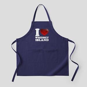 I Heart Whidbey Island Apron (dark)