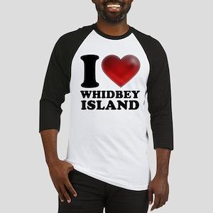 I Heart Whidbey Island Baseball Jersey