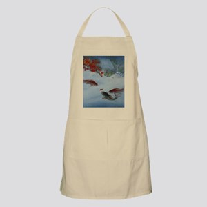Koi Fish and Flowers Apron