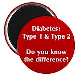 Diabetes Types Magnet