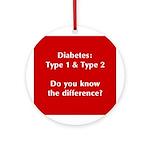 Diabetes Types Ornament (Round)