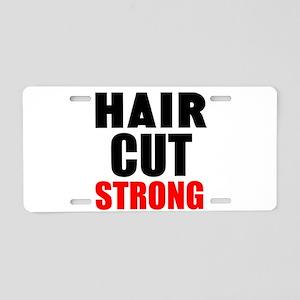 Hair Cut Strong Aluminum License Plate