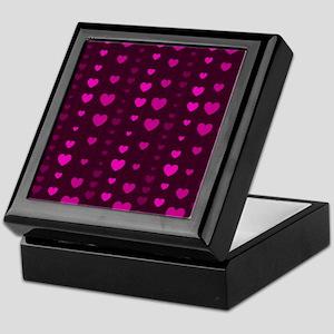 Violet Hearts Keepsake Box