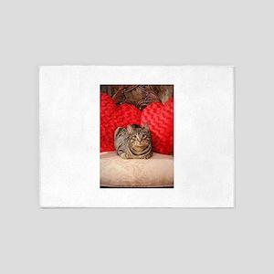 Sweetheart Daisy Valentne Heart pil 5'x7'Area Rug