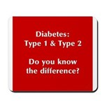 Diabetes Types Mousepad