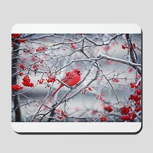 Red Bird & Berries Mousepad