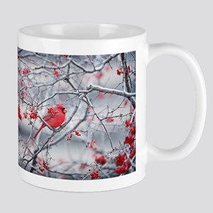 Red Bird & Berries Mugs
