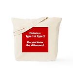 Diabetes Types Tote Bag