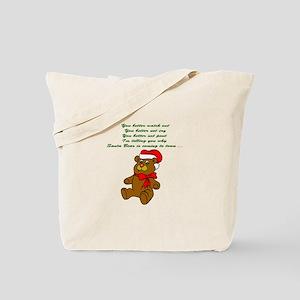 Santa Bear Tote Bag