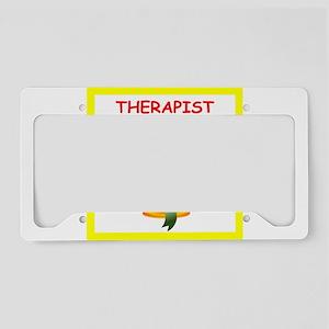 therapist License Plate Holder