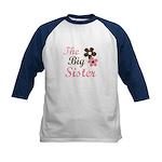 the big sister flower Kids Baseball Jersey