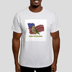 Patriotic Quaker Parrot Light T-Shirt