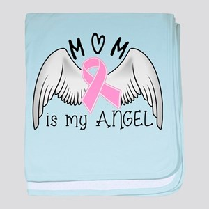 Breast Cancer Awareness Mom Is My Angel baby blank
