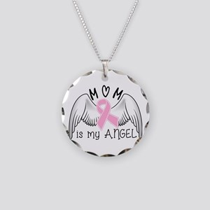 Breast Cancer Awareness Mom Necklace Circle Charm