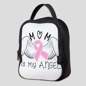 Breast Cancer Awareness Mom Is My Angel Neoprene L