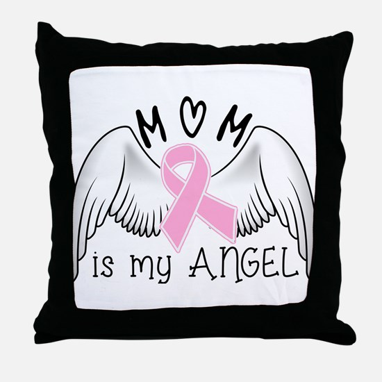 Breast Cancer Awareness Mom Is My Angel Throw Pill