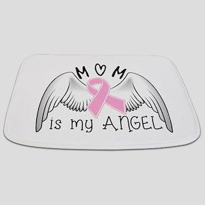 Breast Cancer Awareness Mom Is My Angel Bathmat