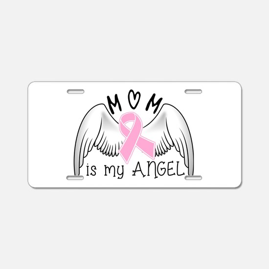 Breast Cancer Awareness Mom Aluminum License Plate