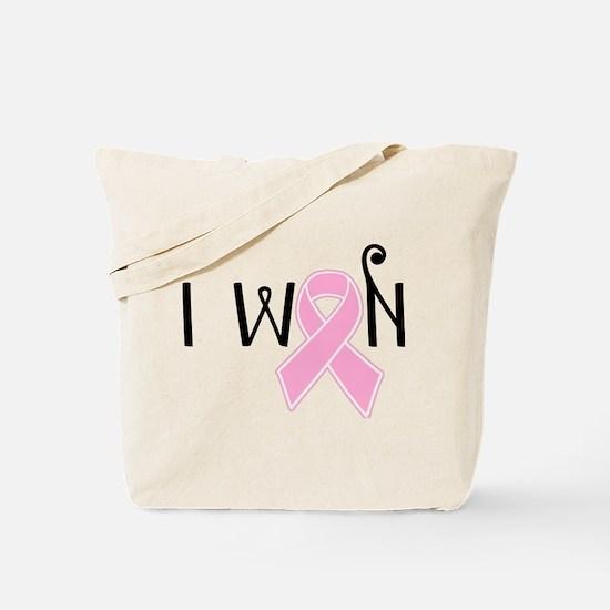 I WON Breast Cancer Awareness Tote Bag