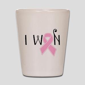 I WON Breast Cancer Awareness Shot Glass
