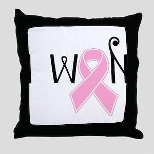 I WON Breast Cancer Awareness Throw Pillow