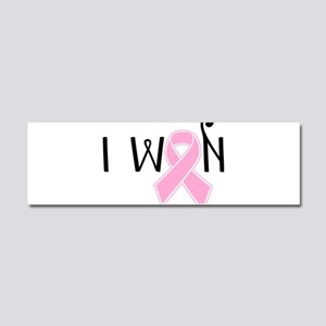 I WON Breast Cancer Awareness Car Magnet 10 x 3