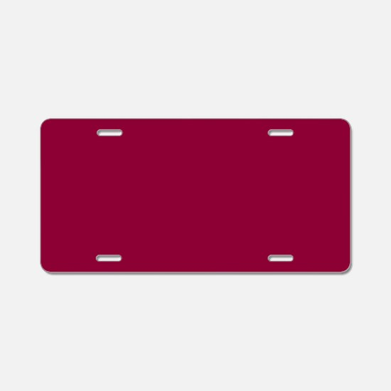 Solid red wine Aluminum License Plate