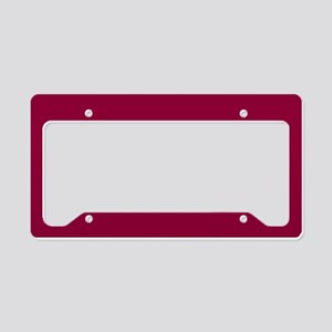 Solid red wine License Plate Holder