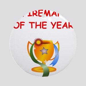fireman Ornament (Round)