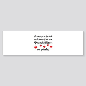 GRANDCHILDREN ARE PRICELESS Bumper Sticker