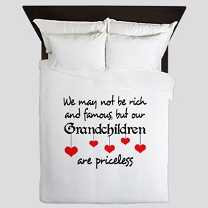GRANDCHILDREN ARE PRICELESS Queen Duvet