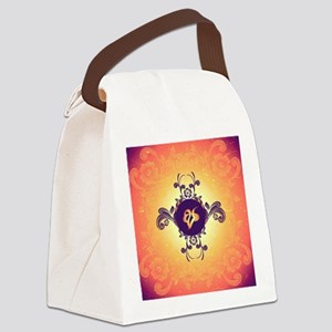Mourning, the rune Canvas Lunch Bag