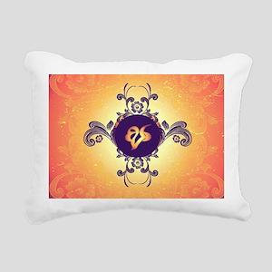Mourning, the rune Rectangular Canvas Pillow