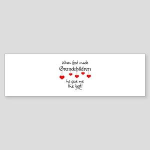 GRANDCHILDREN ARE THE BEST Bumper Sticker