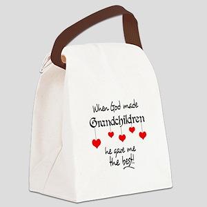 GRANDCHILDREN ARE THE BEST Canvas Lunch Bag