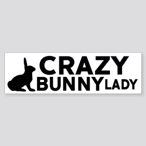 Crazy Bunny Lady Bumper Sticker