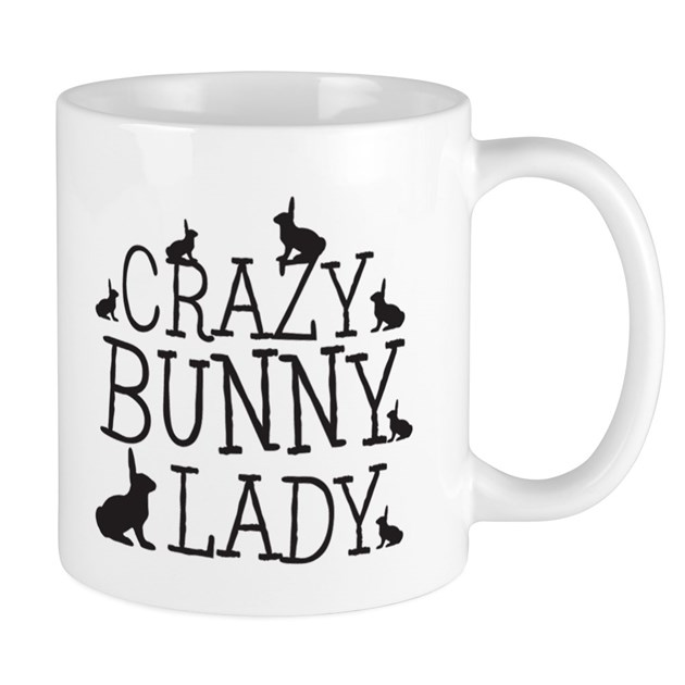Crazy Bunny Lady Mugs by Admin_CP3083734